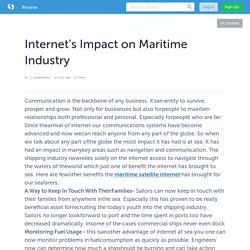 Internet's Impact on Maritime Industry