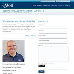 Contact WSI For Online Marketing Services in Albuquerque
