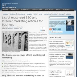 List of must-read SEO and Internet marketing articles for business | Site prebuilder