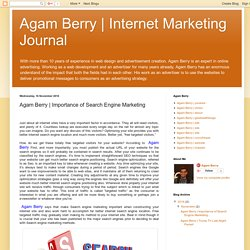 Internet Marketing Journal : Agam Berry