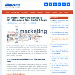 The Internet Marketing Handbook – 101+ Resources, Tips, Guides & Tools