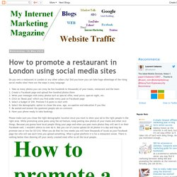 Internet Marketing!: How to promote a restaurant in London using social media sites