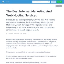 The Best Internet Marketing And Web Hosting Services