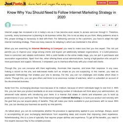 Know Why You Should Need to Follow Internet Marketing Strategy in 2020