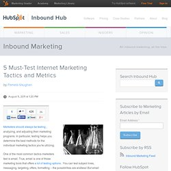 5 Must-Test Internet Marketing Tactics and Metrics