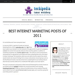 Best Internet Marketing Posts of 2011