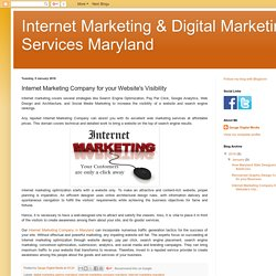 Internet Marketing Company for your Website's Visibility