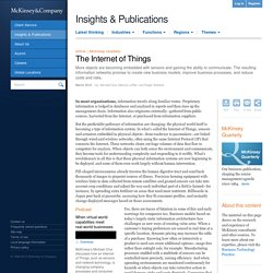 The Internet of Things - McKinsey Quarterly - High Tech - Hardwa