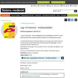 Jag <3 internet: rättigheter och skyldigheter online – mellanstadiet