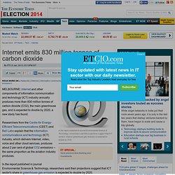 Internet emits 830 million tonnes of carbon dioxide
