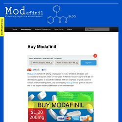 The Internet's #1 Place to Buy Modafinil Online