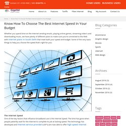 Know How To Choose The Best Internet Speed In Your Budget