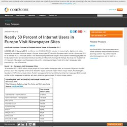 Nearly 50 Percent of Internet Users in Europe Visit Newspaper Sites