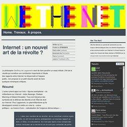 Internet : un nouvel art de la révolte ?
