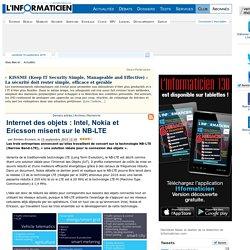 Internet des objets : Intel, Nokia et Ericsson misent sur le NB-LTE