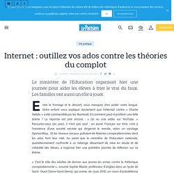 Internet : outillez vos ados contre les théories du complot