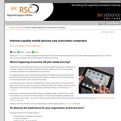 Internet-capable mobile devices now outnumber computers - RSC Blog
