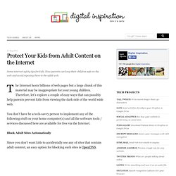 How Parents Can Protect Their Kids from Inappropriate Content on