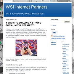 4 STEPS TO BUILDING A STRONG SOCIAL MEDIA STRATEGY