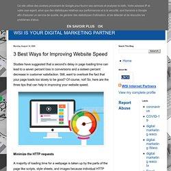 3 Best Ways for Improving Website Speed
