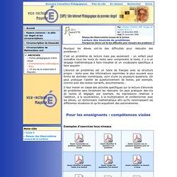 [Site Internet Pédagogique du premier degré de Mayotte - SIP1] Lecture des énoncés de problèmes