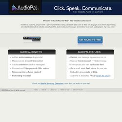 Free internet audio mp3 player for personal websites| AudioPal
