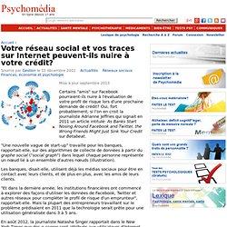 Votre réseau social actuel nuira-t-il bientôt à votre crédit?