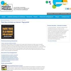 Faire face à la haine sur Internet : Page portail