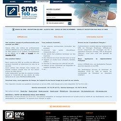 Service d'envoi de SMS par internet et par email pour les professionnels