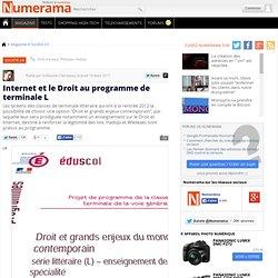 Internet et le Droit au programme de terminale L