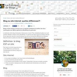 Blog ou site internet ?