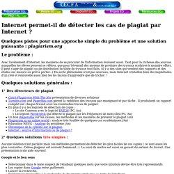 Copie avec internet: quelques sites pour détecter le plagiat