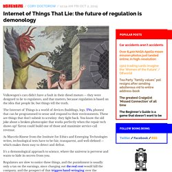 Internet of Things That Lie: the future of regulation is demonology / Boing Boing