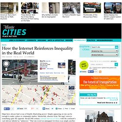 Internet Reinforces Inequality