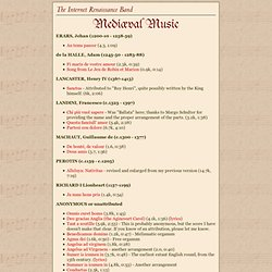The Internet Renaissance Band - Mediæval Music
