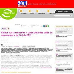 Retour sur la rencontre « Open Data des villes en mouvement » du 16 juin 2011