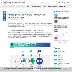 Etude Ipsos : les jeunes, Internet et les réseaux sociaux