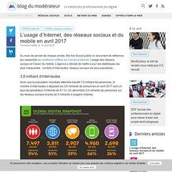 L'usage d'Internet, des réseaux sociaux et du mobile en avril 2017