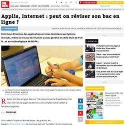 Applis, Internet : peut on réviser son bac en ligne ?