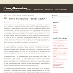 Internet 2012. Que reste-t-il de notre révolution