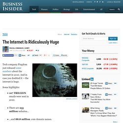 The Internet Is Ridiculously Huge
