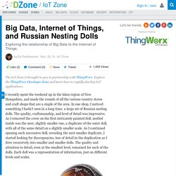 Big Data, Internet of Things, and Russian Nesting Dolls - DZone IoT