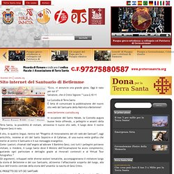 Sito internet del Santuario di Betlemme