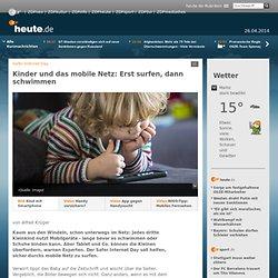 Kinder und das mobile Netz: Erst surfen, dann schwimmen
