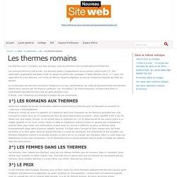 Les thermes romains - Site internet de la cité scolaire François Jean Armorin