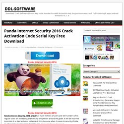 Panda Internet Security 2016 Activation Code Free Download