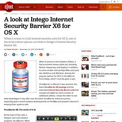 A look at Intego Internet Security Barrier X6 for OS X