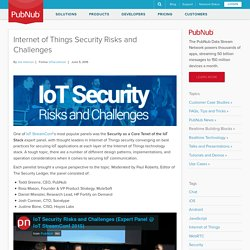 Internet of Things Security Risks and Challenges