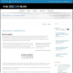 The Cocoon Blog Internet Security – Knowledge Is Power - The Cocoon Blog