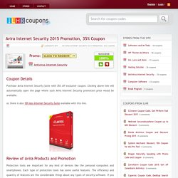 Avira Internet Security 2015 Promotion, 35% Coupon
